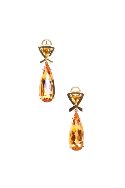 Frank Ancona - Yellow Sapphire & Citrine Earrings