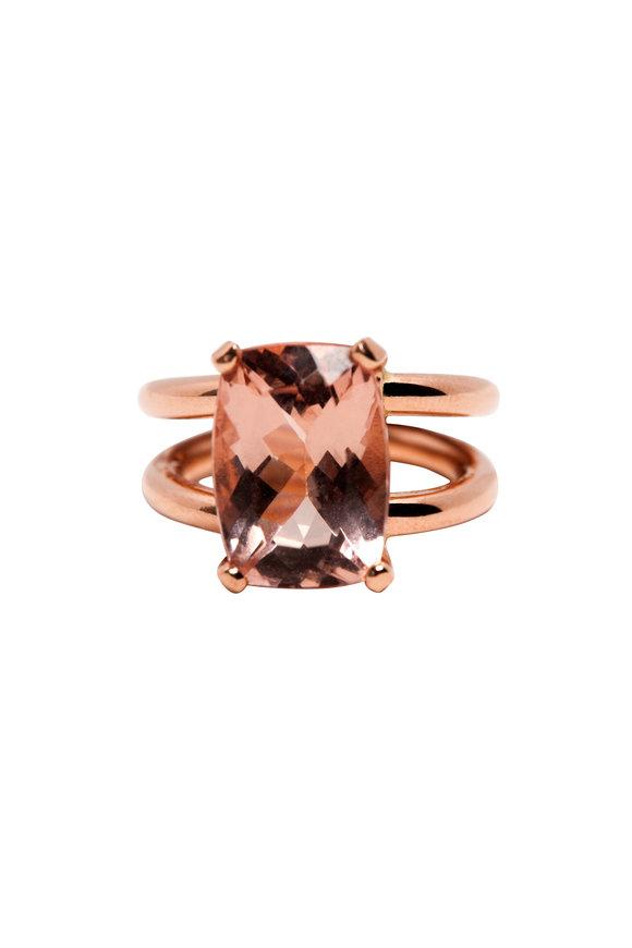 Genevieve Lau Rose Gold Morganite Ring