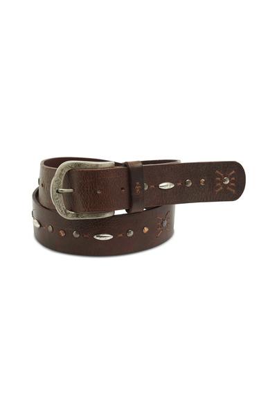 Henry Beguelin - Brown Washed Leather Belt
