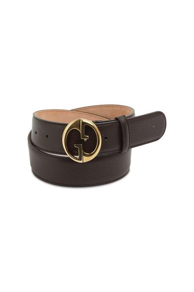 Gucci - Cocoa Leather Tubular Belt