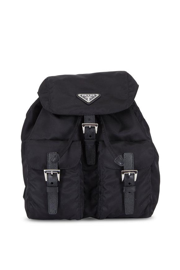 Prada Black Nylon Small Backpack