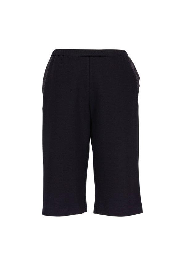 Peter Cohen Black Cotton & Silk Shorts