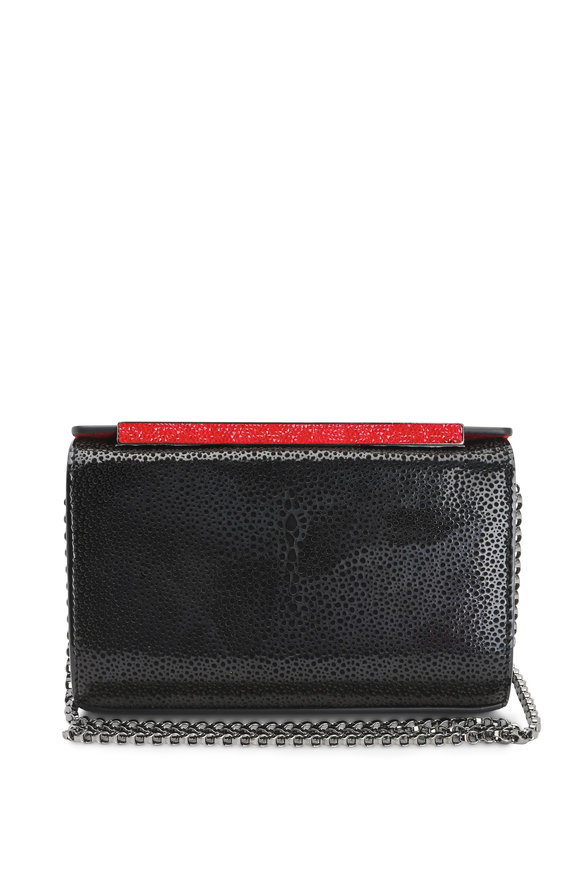 Christian Louboutin Vanite Black Patent Leather Clutch