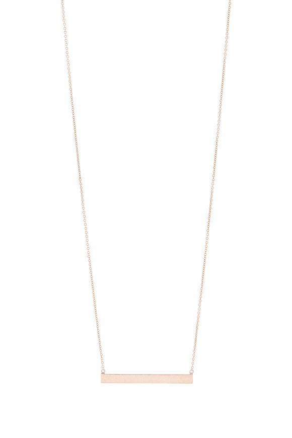 Genevieve Lau Rose Gold Bar Necklace