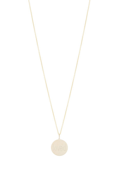 Genevieve Lau - Yellow Gold Loved Pendant Necklace