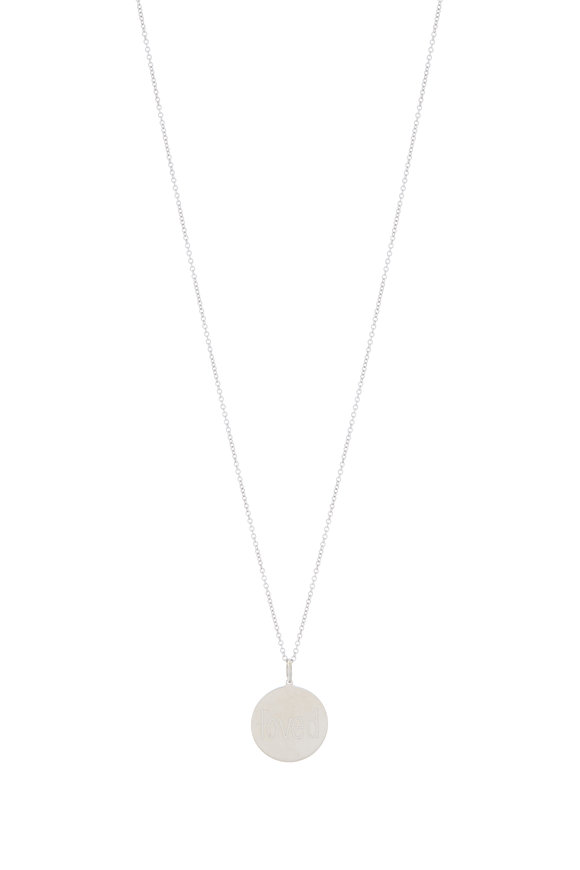 Genevieve Lau White Gold Loved Pendant Necklace