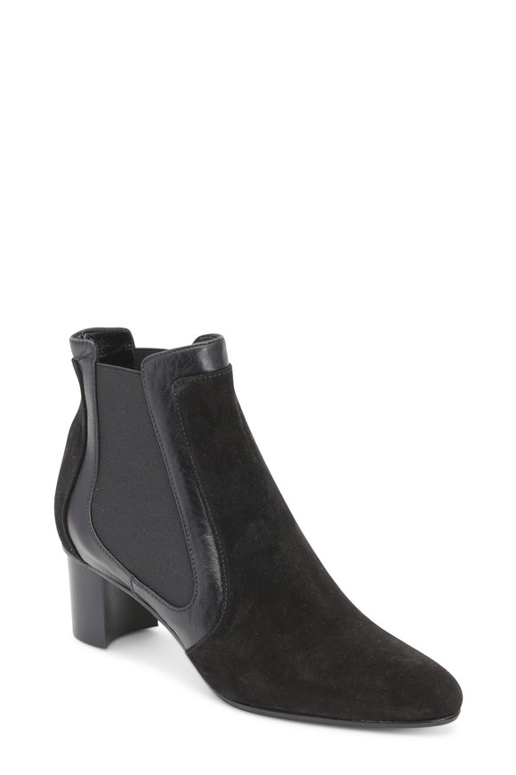 Sarah Flint Black Suede & Leather Ankle Boot, 50mm