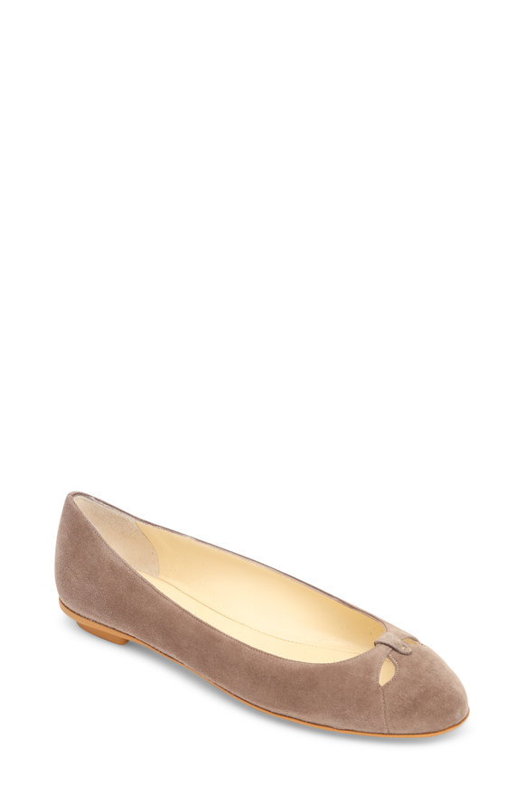 Sarah Flint Lucille Taupe Suede Ballet Flat