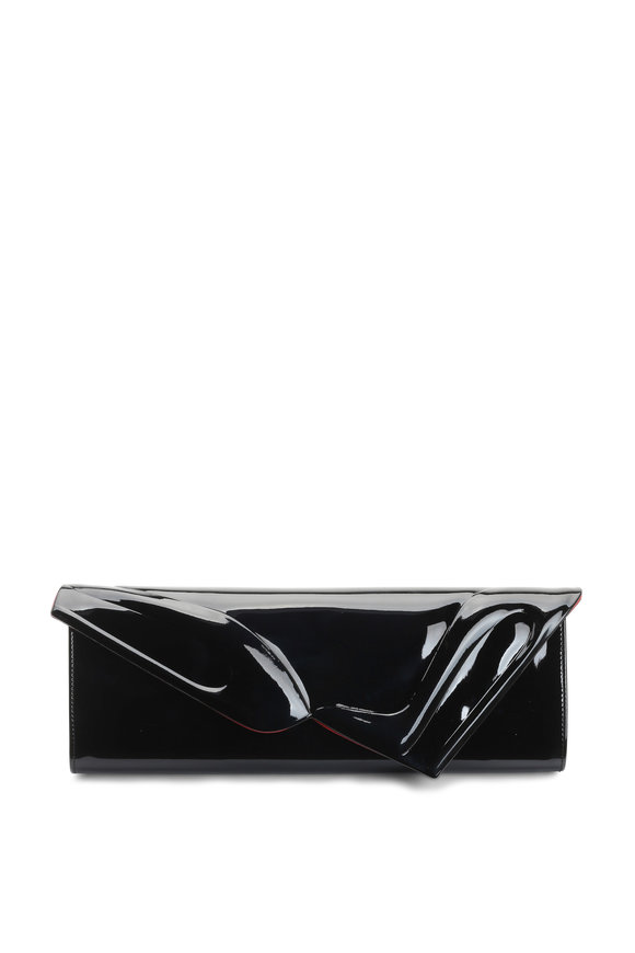 Christian Louboutin So Kate Black Patent Leather Clutch