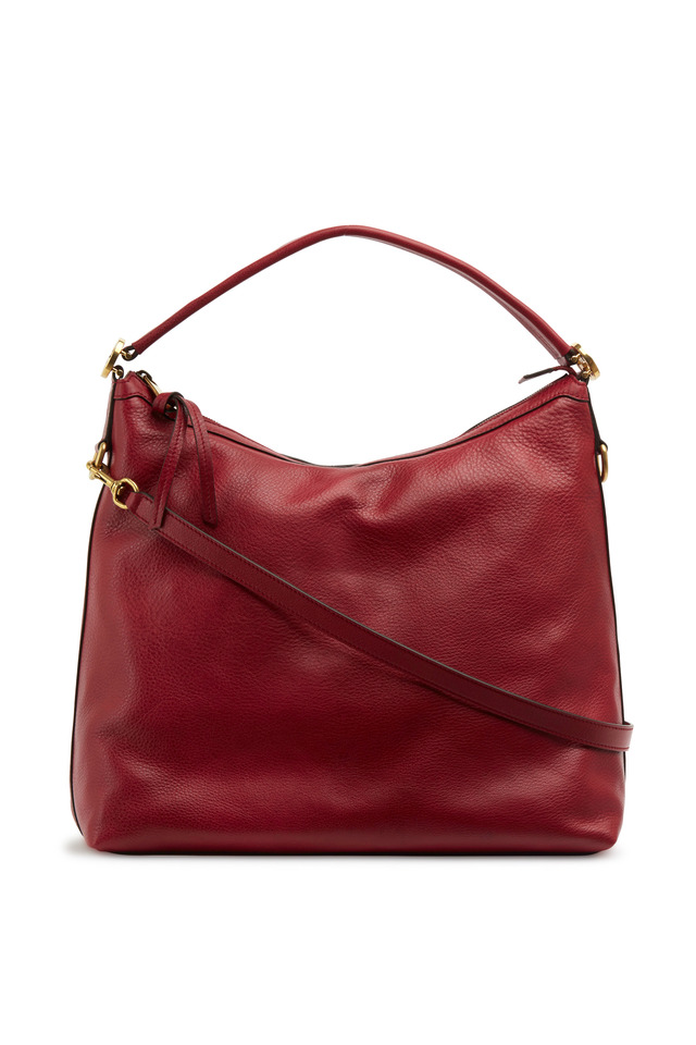 Miss GG Red Leather Medium Hobo