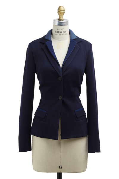 Rani Arabella - Navy Blue Cotton Blazer