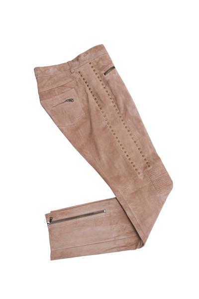 Bogner - Mocha Suede Moto Pants
