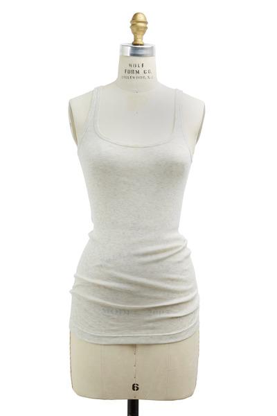 Vince - White Cotton-Blend Favorite Tank