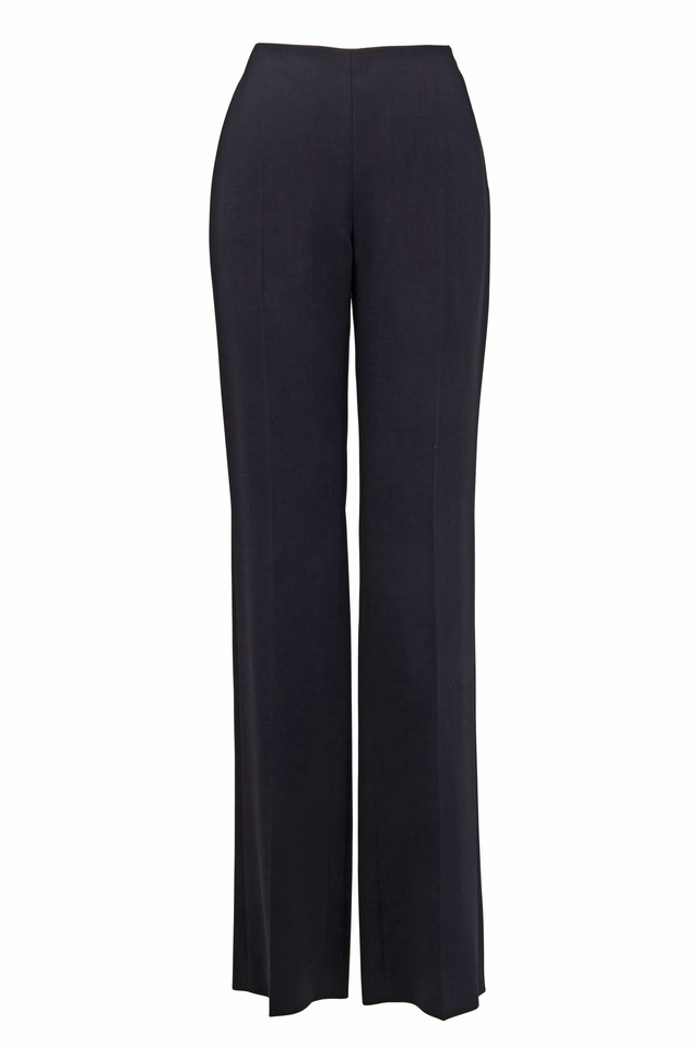 Carole Black Wool Double-Faced Pant