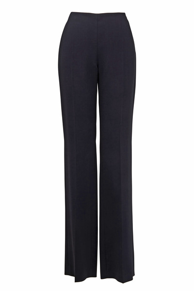 Akris - Carole Black Wool Double-Faced Pant