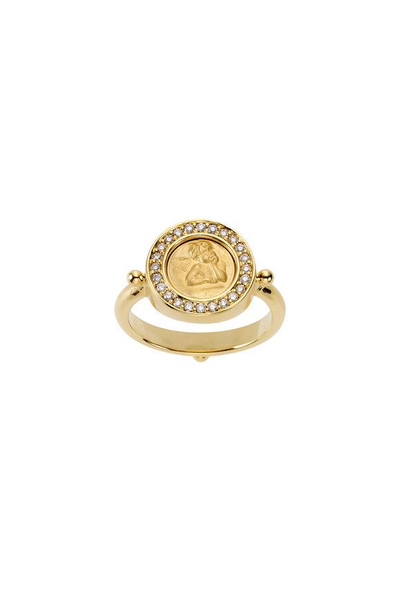 Temple St. Clair 18K Yellow Gold Diamond Angel Ring