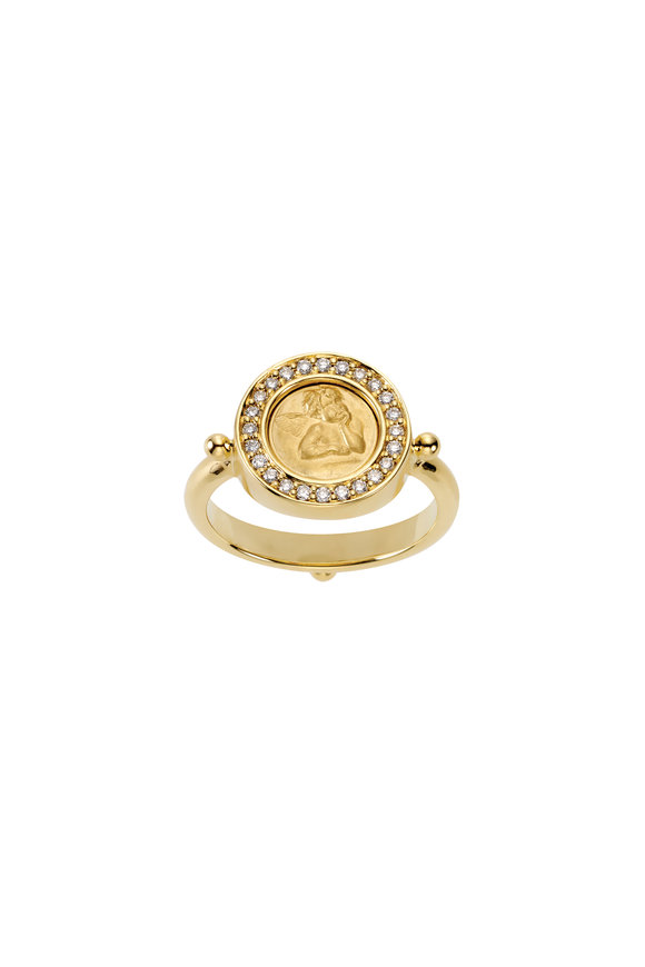 Temple St. Clair 18K Yellow Gold Diamond Angel Ring