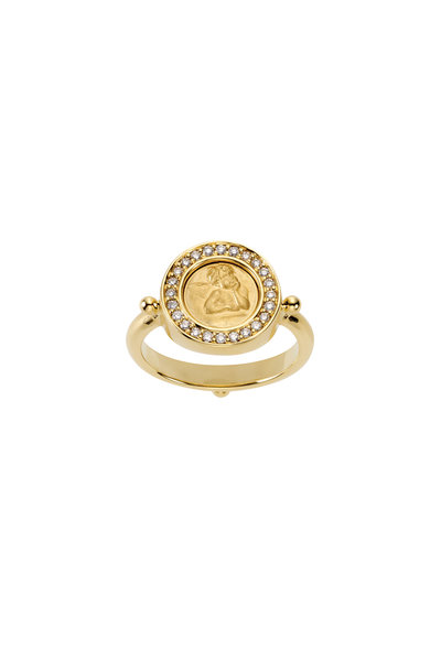 Temple St. Clair - 18K Yellow Gold Diamond Angel Ring