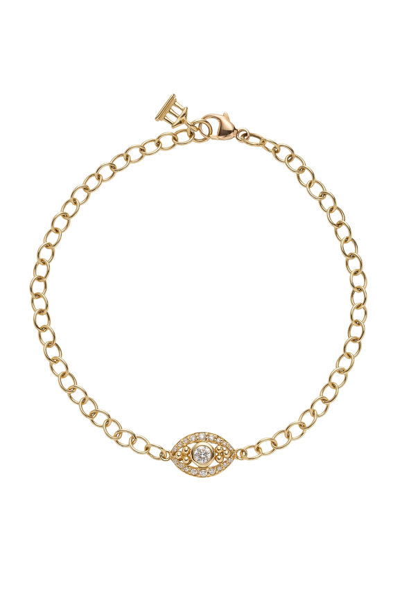 Temple St. Clair 18K Yellow Gold Small Evil Eye Bracelet