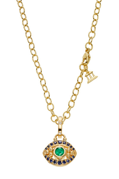 Temple St. Clair - 18K Yellow Gold Evil Eye Pendant