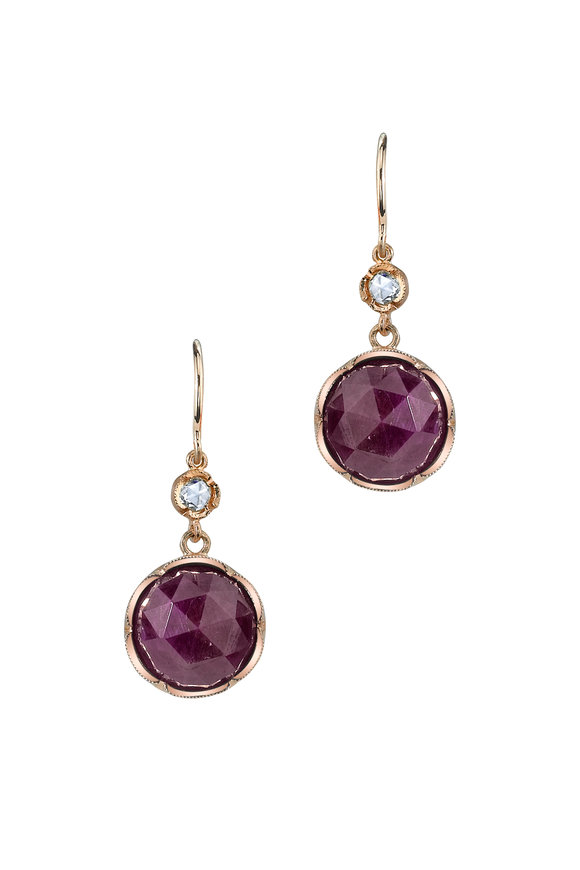 Irene Neuwirth 18K Rose Gold Ruby Earrings