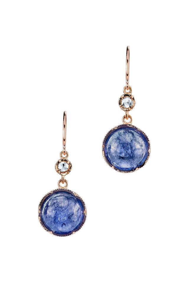 18K Rose Gold Tanzanite Earrings