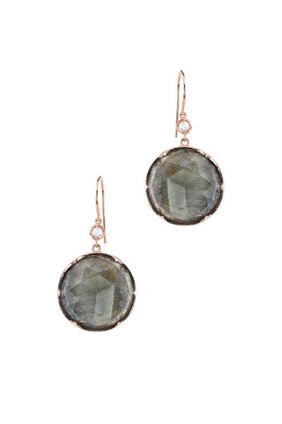 Irene Neuwirth - 18K Rose Gold Labradorite & Diamond Earrings