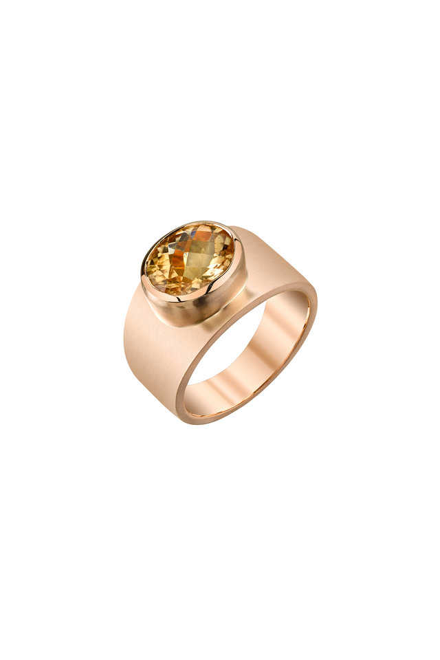 18K Rose Gold Tourmaline Ring