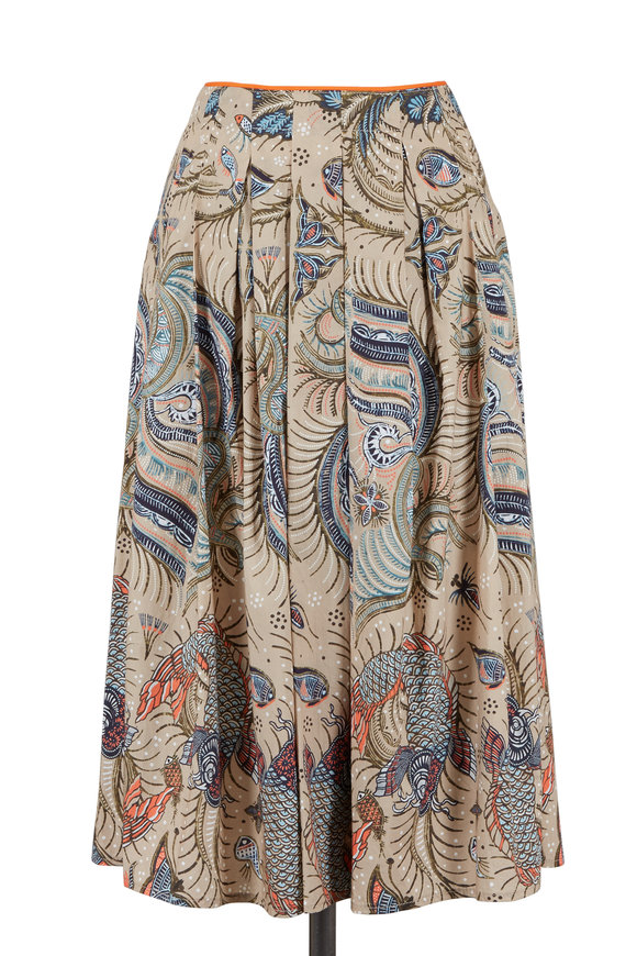 Bogner Selena Multicolor Printed Midi Skirt