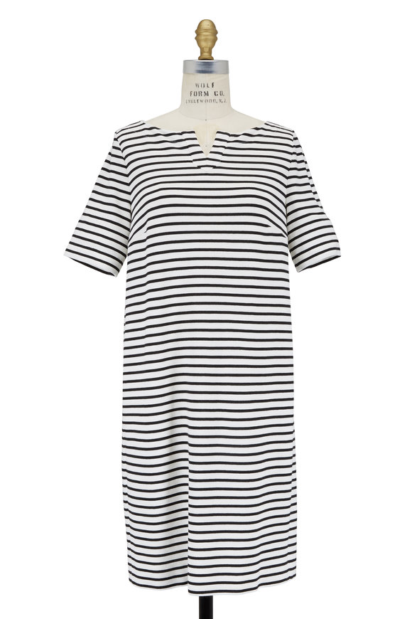 Bogner Patty Black & White Striped Dress