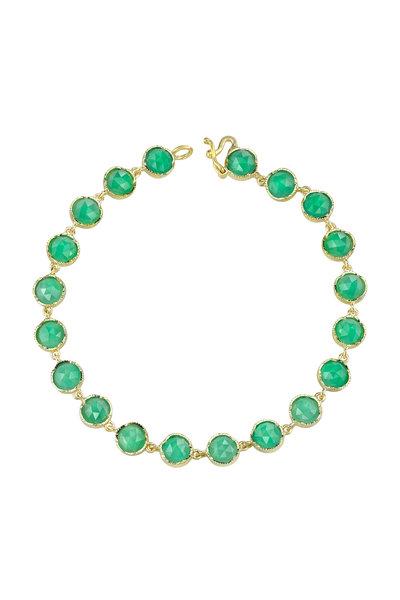 Irene Neuwirth - 18K Yellow Gold Chrysoprase Line Bracelet
