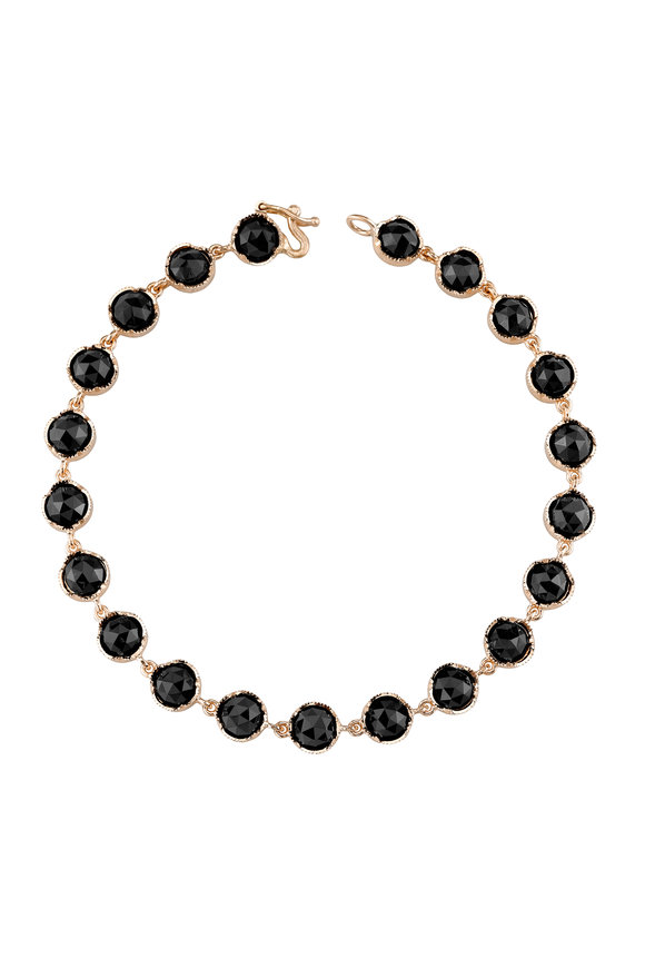 Irene Neuwirth 18K Rose Gold Black Onyx Line Bracelet