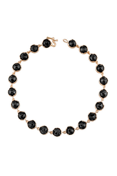 Irene Neuwirth - 18K Rose Gold Black Onyx Line Bracelet