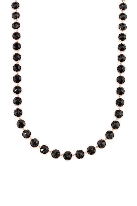 Irene Neuwirth 18K Rose Gold Black Onyx Necklace