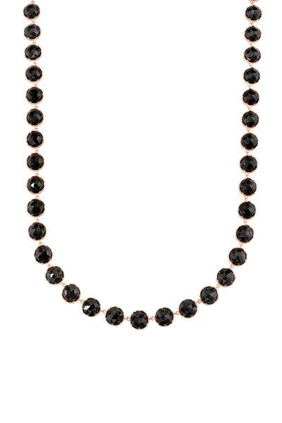 Irene Neuwirth - 18K Rose Gold Black Onyx Necklace