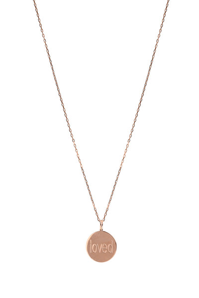 Genevieve Lau - Rose Gold Loved Pendant Necklace