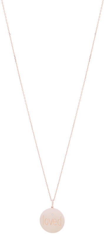 Genevieve Lau Rose Gold Diamond Loved Pendant Necklace