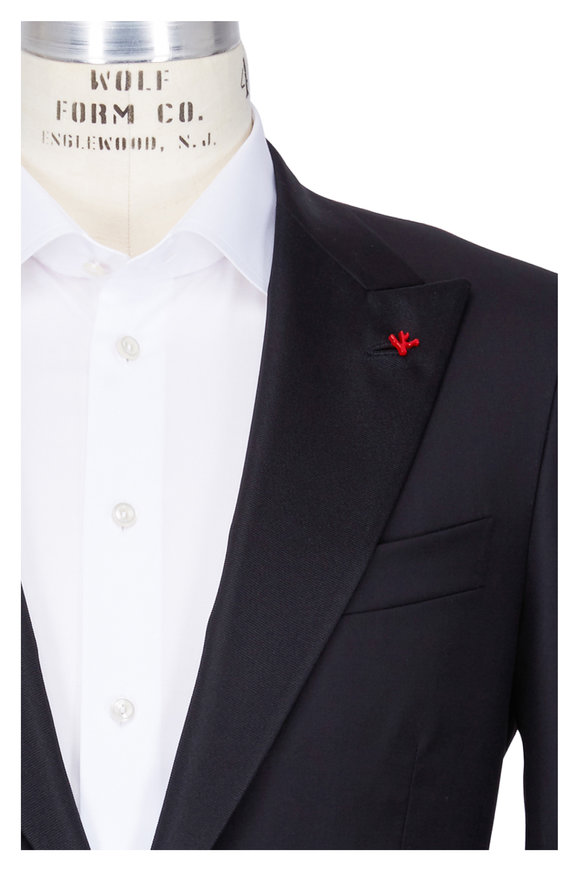 Isaia Black Wool Tuxedo