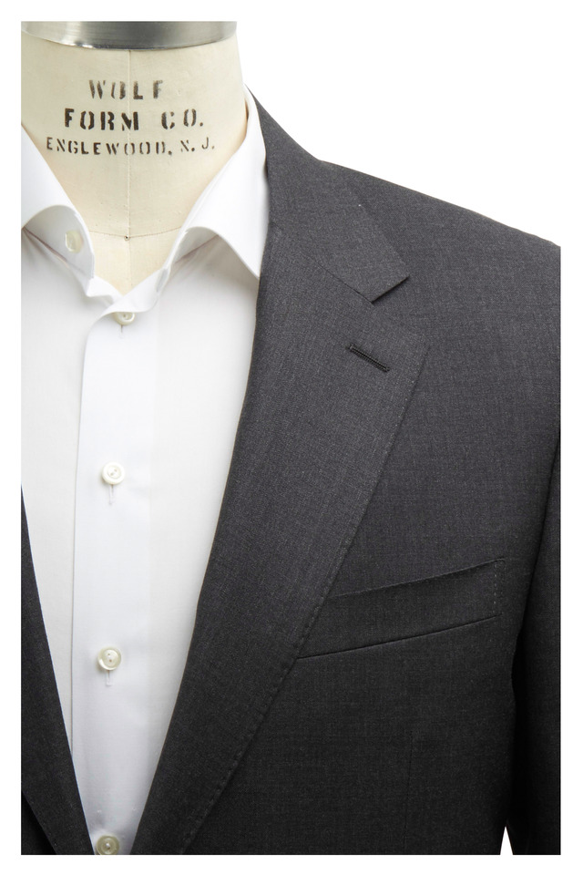 Solid Basic Gray Wool Suit