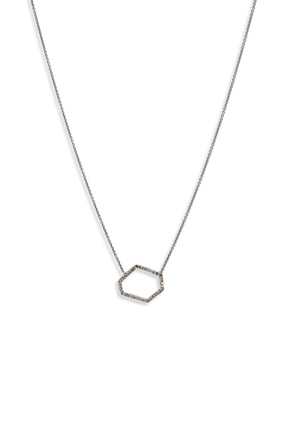 Kimberly McDonald - White Gold Diamond Outline Pendant Necklace