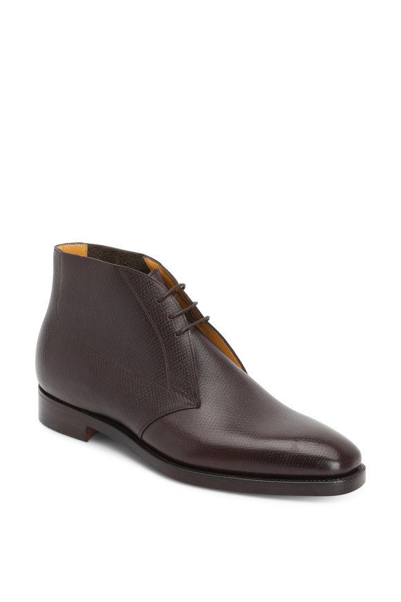 Gaziano & Girling Arran Dark Brown Leather Chukka Boot