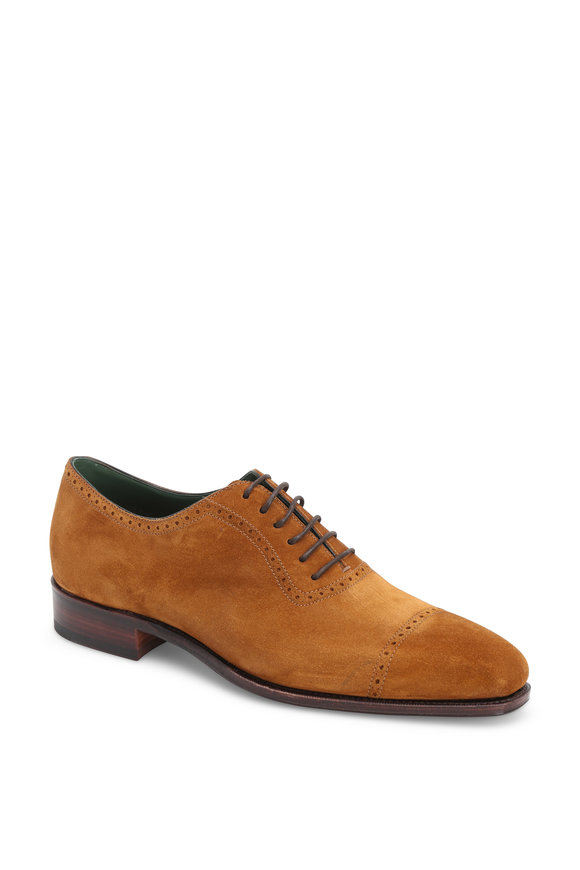 Carmina Light Brown Suede Oxford