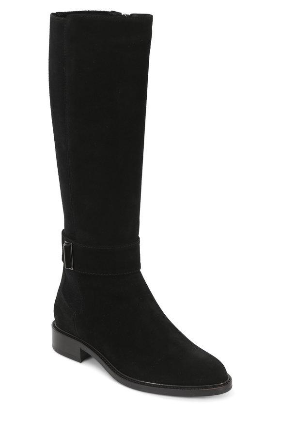 Aquatalia Giada Black Suede & Stretch Weatherproof Boot