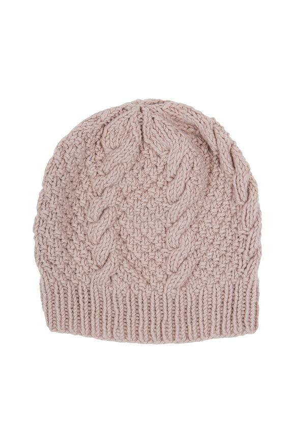 Hania Copellia Beige Cable Cashmere Hat