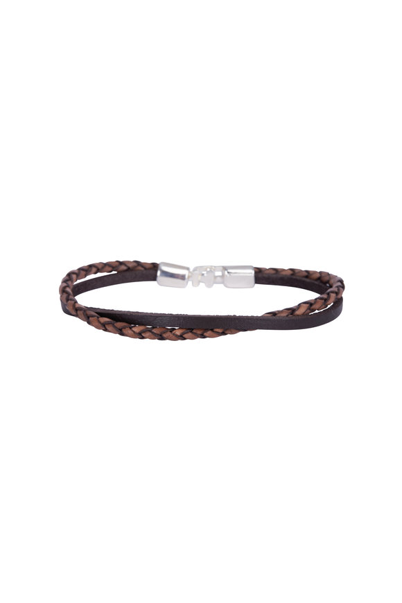 Catherine M. Zadeh Valerio Leather Double Wrap Bracelet