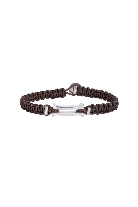 Catherine M. Zadeh Kenzo Brown Macrame  & Sterling Silver Bracelet