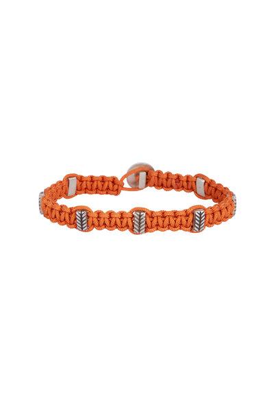 Catherine M. Zadeh - Leandro Orange Macrame & Sterling Silver Bracelet