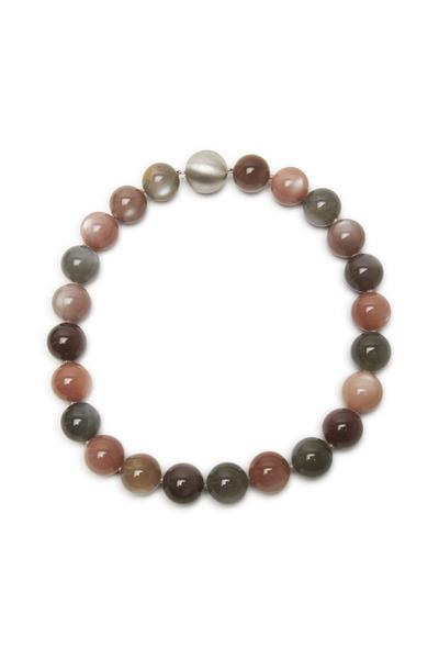 Frank Ancona - Multicolor Moonstone Bead Necklace