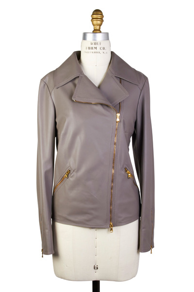 Kiton - Taupe Leather Jacket