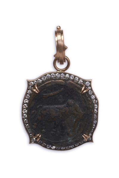Sylva & Cie - Rose Gold Mysore Coin Pendant